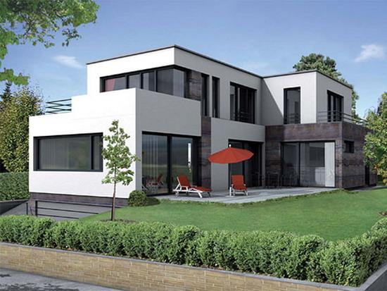 Проекты домов с плоскими крышами фото