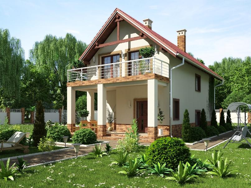 Проекты домов с балконом.