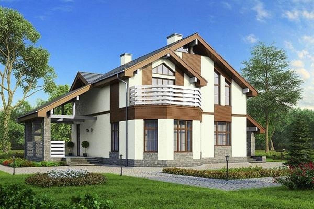 Проекты домов с эркером.