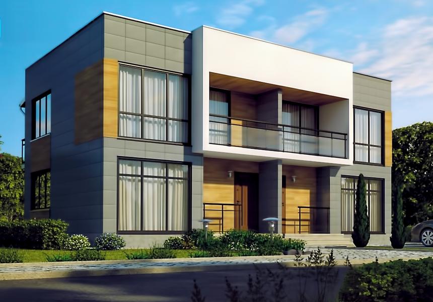 Строительство домов из бетонных блоков под ключ, проекты и