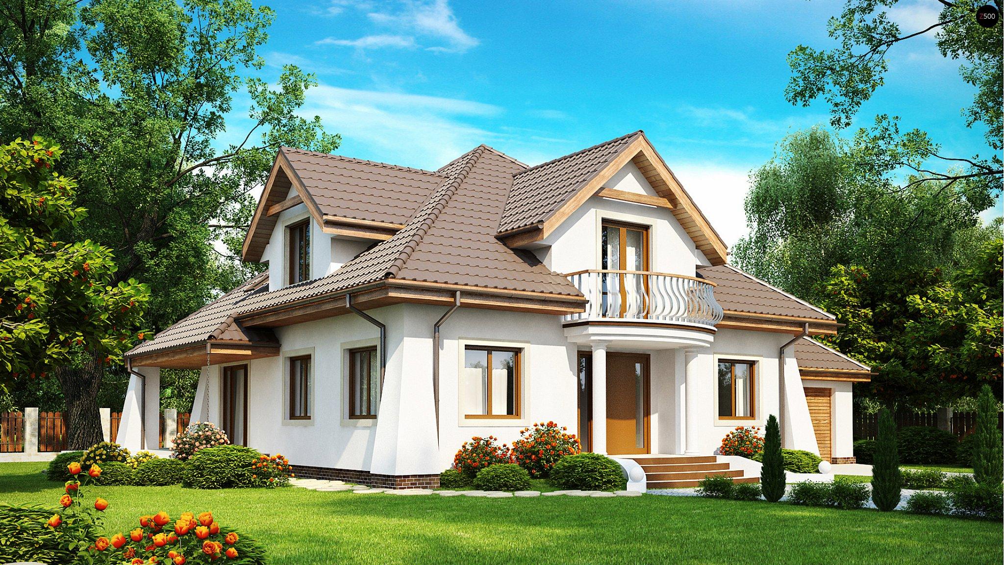 Строительство домов с балконом.