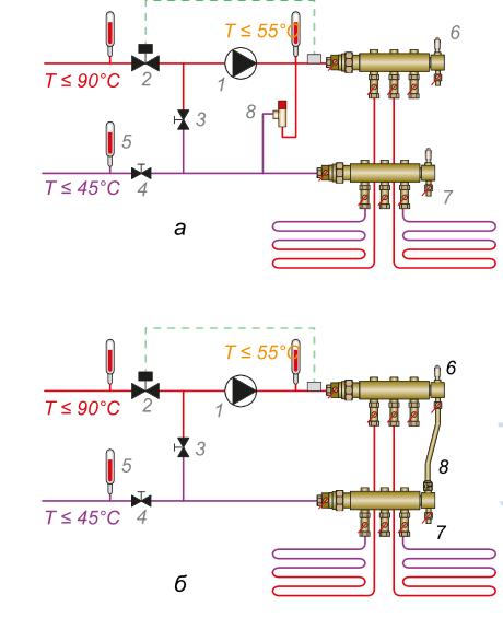 Схема подключения теплообменника в теплых полах Уплотнения теплообменника Alfa Laval TS50-MFM Новоуральск