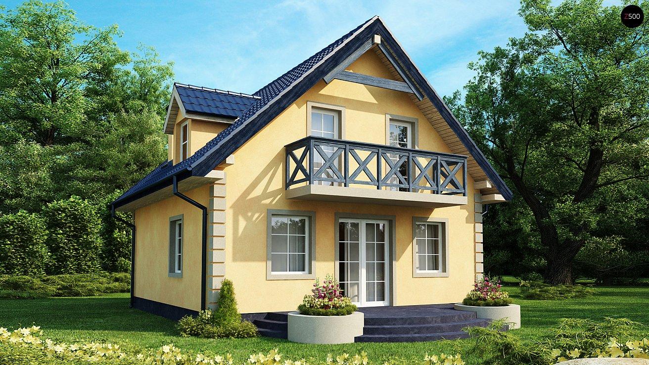 Фасад дачного дома